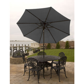 9' Market Umbrella with Aluminum Frame, Crank & Tilt